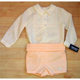 Basmartí Summer Baby Boy Set Ceremony Salmon