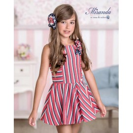 Miranda Summer Girl Nautical Dress Low Waist