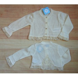 Sardon Summer Baby Girl Jacket Beige Ceremony