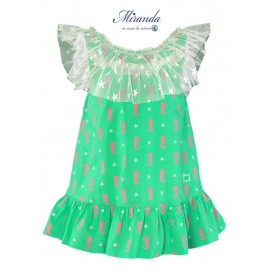 Miranda Summer Girl Dress Sea Horse