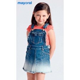 Mayoral Summer Girl Pinafore Dress Denim
