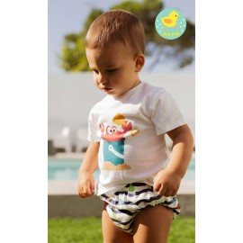Pio Pio Summer Baby Boy Set Crab