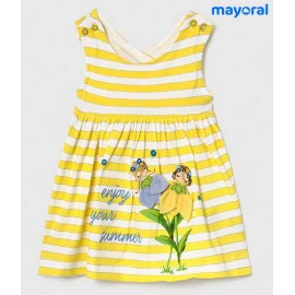 Mayoral Summer Baby Girl Dress Yellow Stripes
