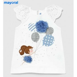 Mayoral Summer Baby Girl Dress Balloons