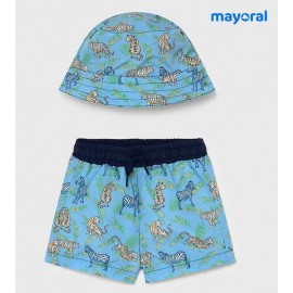 Mayoral Summer Baby Boy Swimsuit and Hat