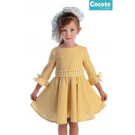 Cocote Summer Baby Girl Dress Yellow