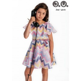 Jose Varon Summer Girl Dress Zig Zag