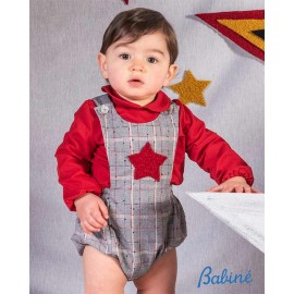 Babine Winter Baby Boy Set with Romper with Star