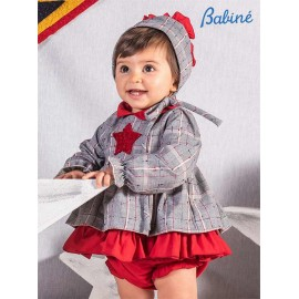 Babine Winter Baby Girl Squared Set with Star