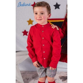 Babine Winter Boy Red Set and Gray Squares