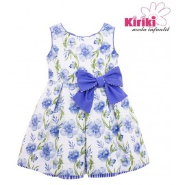 Kiriki Summer Girl Dress Flowers Blue