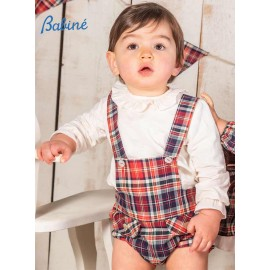 Babine Winter Baby Boy Set with Squared Romper