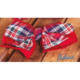 Babiné Winter Girl Pin with Tie Plaid