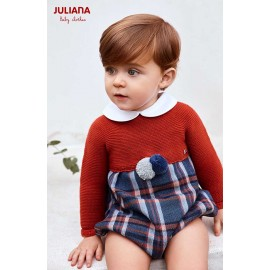 Juliana Winter Baby Boy Brown Romper and Squares