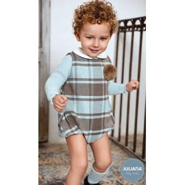 Juliana Winter Baby Boy Set Squared Romper and Sweater