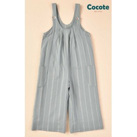 Cocote Winter Girl Green Romper with Stripes