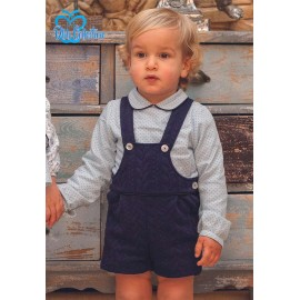 DBB Collection Winter Baby Boy Set with Navy Romper