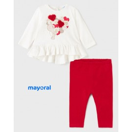 Mayoral Winter Baby Girl Set Bear and Cores