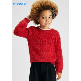 Mayoral Winter Girl Red Sweater