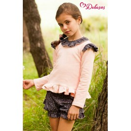 Debesos Winter Girl Set Pink and Stars