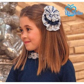 DBB Collection Winter Pin Navy and Flowers