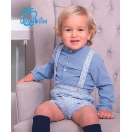 DBB Collection Winter Baby Boy Set Blue and Flowers