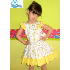 DBB Collection Summer Girl Dress Yellow and Flowers