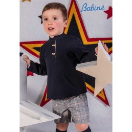 Babine Winter Boy Navy Set and Gray Squares