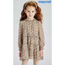 Mayoral Winter Girl Dress Foxes