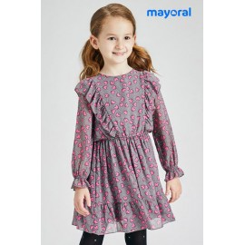 Mayoral Winter Girl Gray Dress Cores