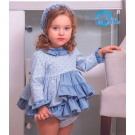 DBB Collection Winter Baby Girl Blue Set with Flowers