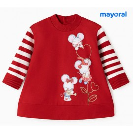 Mayoral Winter Baby Girl Dress Mouses