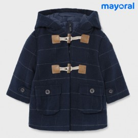 Mayoral Winter Baby Boy Navy Squared Duffle Coat