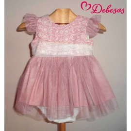 Debesos Summer Baby Girl Set Pink Nude