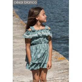 Cesar Blanco Summer Girl Dress Sea Stars