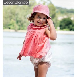 Cesar Blanco Summer Baby Girl Set Tipis