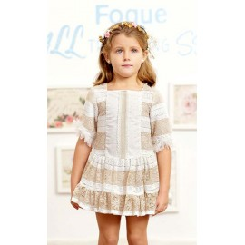 Foque Summer Girl Dress Ceremony Portofino Low Waist