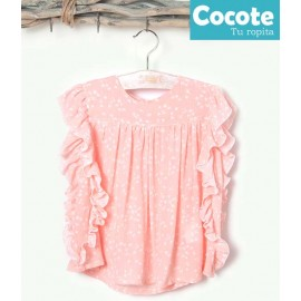 Cocote Summer Girl Shirt Salmon