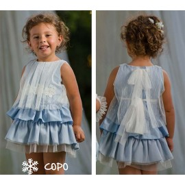 Creaciones Copo Summer Girl Dress Blue Ceremony