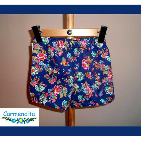 Carmencita Summer 2018 Boy Boxer Blue and Flowers