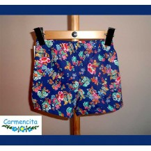 Carmencita Summer Boy Boxer Blue and Flowers