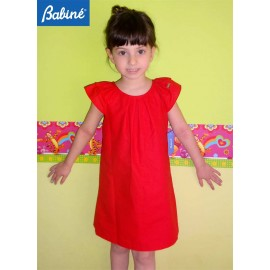 Babiné Summer Girl Dress Straight Red
