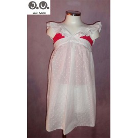 Jose Varon Summer Girl Dress Beach Plumetis White