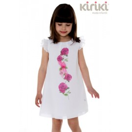 Kiriki Summer Girl Dress White with Flower