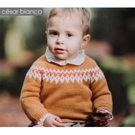 Cesar Blanco Winter Boy Sweater Greca Caramel