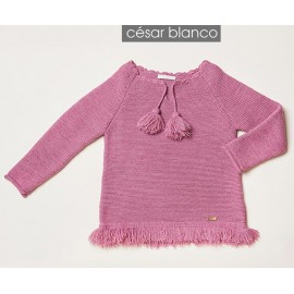 Cesar Blanco Winter Girl Sweater Pink