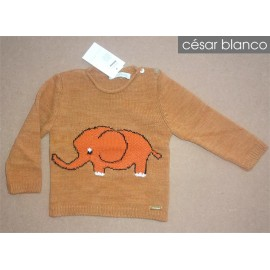 Cesar Blanco Winter Baby Sweater Dumbo Caramel