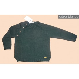 Cesar Blanco Winter Boy Sweater Dark Green