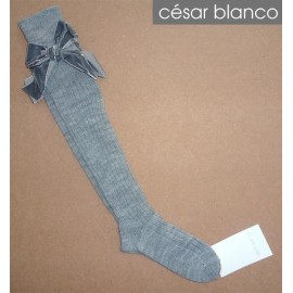 Cesar Blanco Winter Girl High Socks Gray