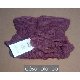 Cesar Blanco Winter Girl Scarf Dark Pink